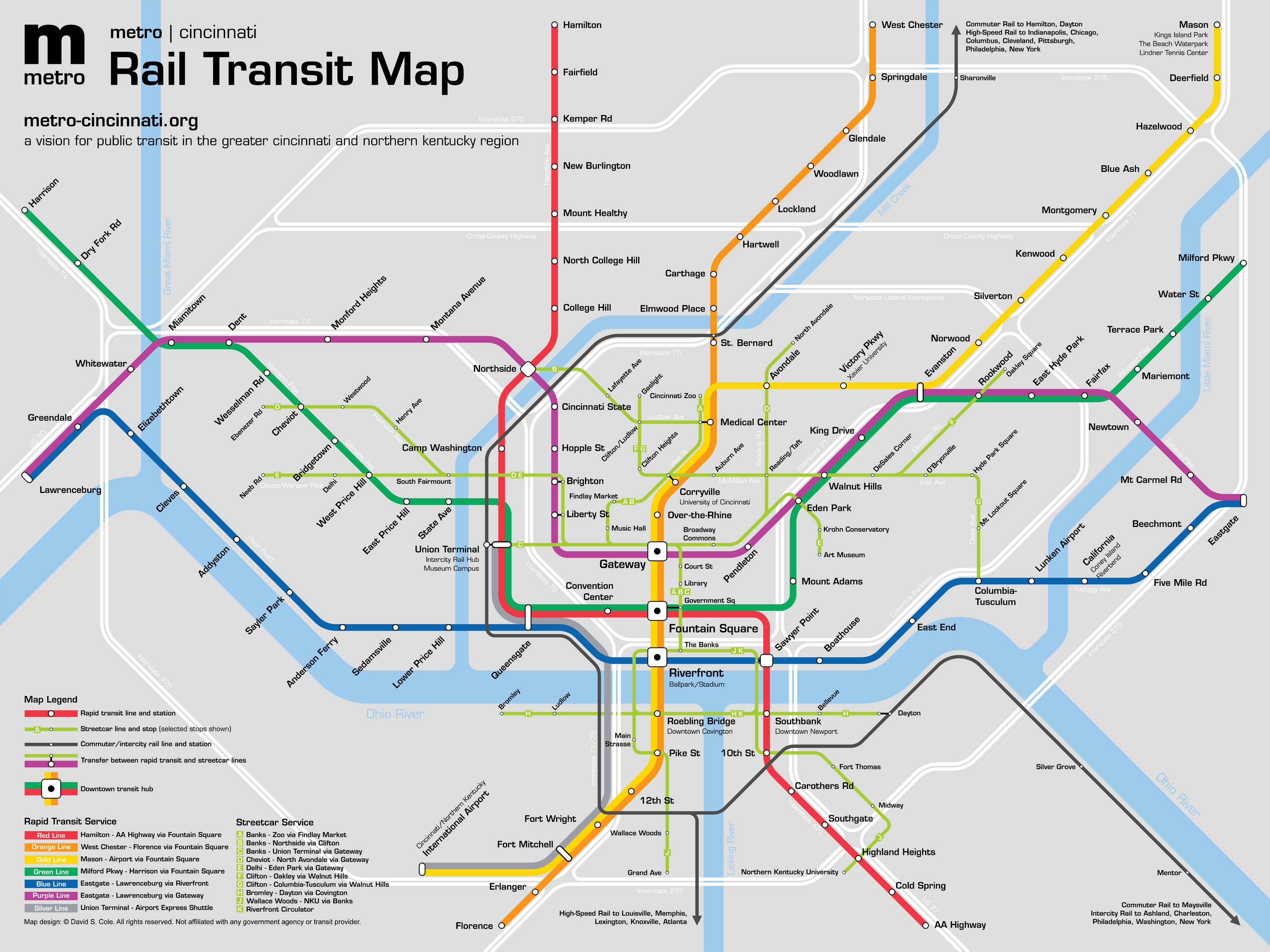 david cole's transit plan - the future of northern ky rail